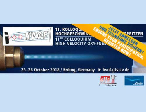 See you at HVOF-Kolloquium 2018  Wir sehen uns im HVOF-Kolloquium 2018